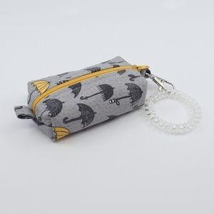 Handmade Umbrella Zippered Wristlet Pouch - New